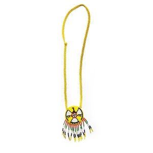 Southwest Handmade Beaded Fringe Yellow Necklace